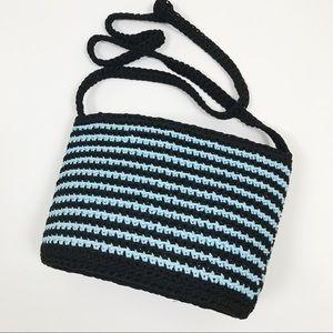 Handbags - Black and Blue Braided Purse